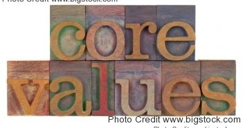 core values of top companies